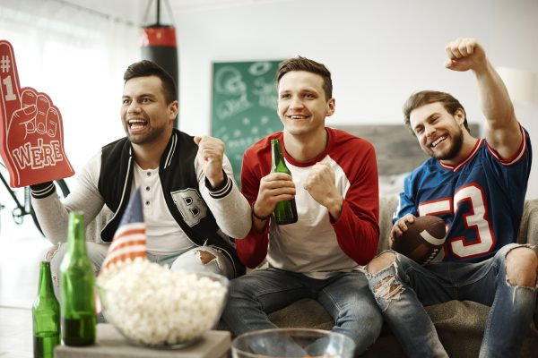 Beers Super Bowl party