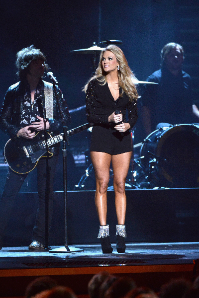 Carrie Underwood performs onstage during the 47th Annual CMA awards