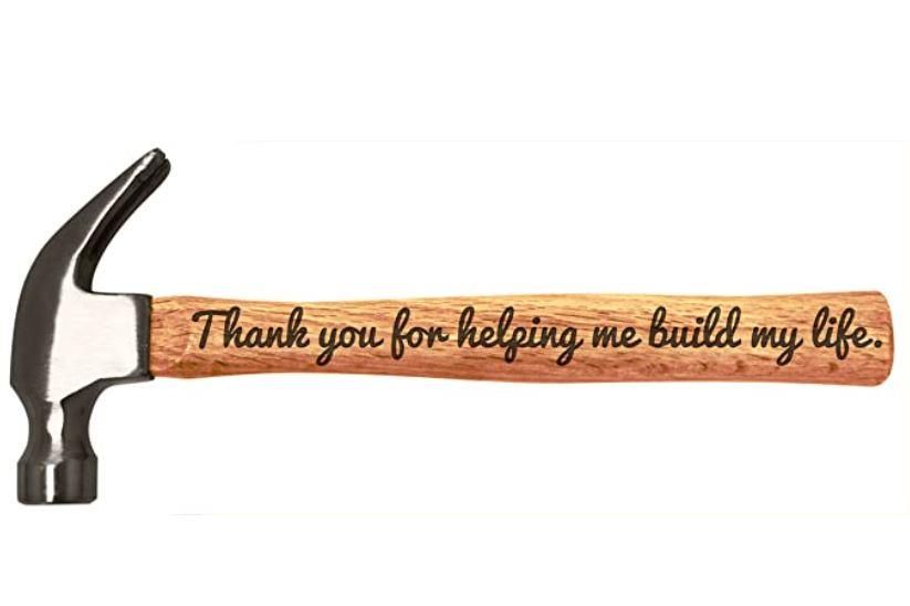 Father's Day Engraved Wood Handle Steel Hammer
