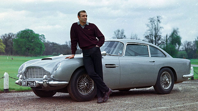 12. James Bond's Aston Martin DB5