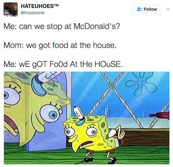 We Got Food At The House