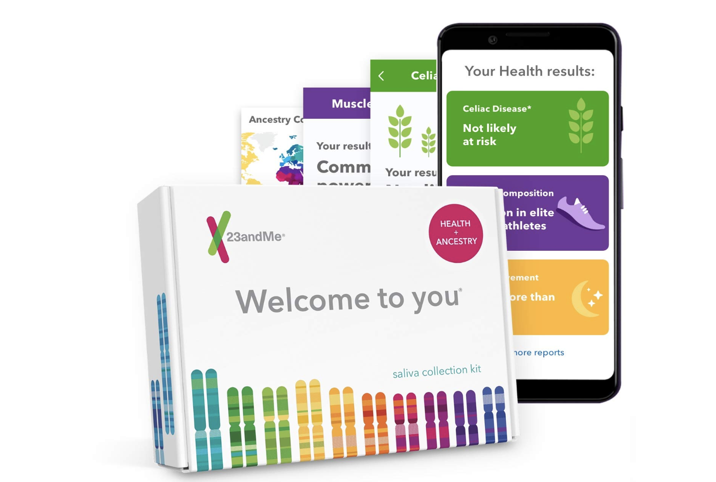 23andMe DNA Test - Health + Ancestry Personal Genetic Service - $99.99 (Down From $199.99)
