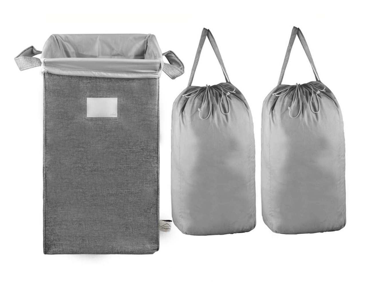 MCleanPin Large Laundry Hamper Collapsible With Two Removeable Laundry Bags