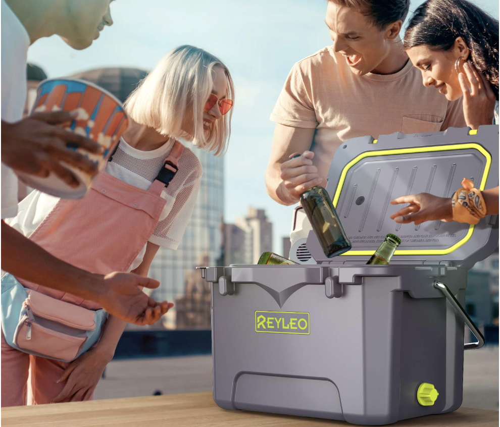 1. Reyleo A21 21-Quart Rotomolded Cooler