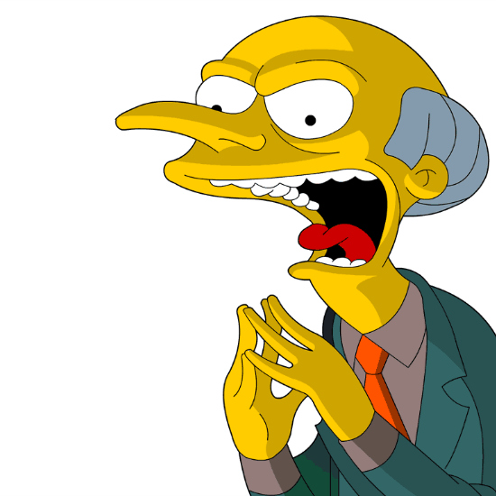 Charles Montgomery Burns from 'The Simpsons'