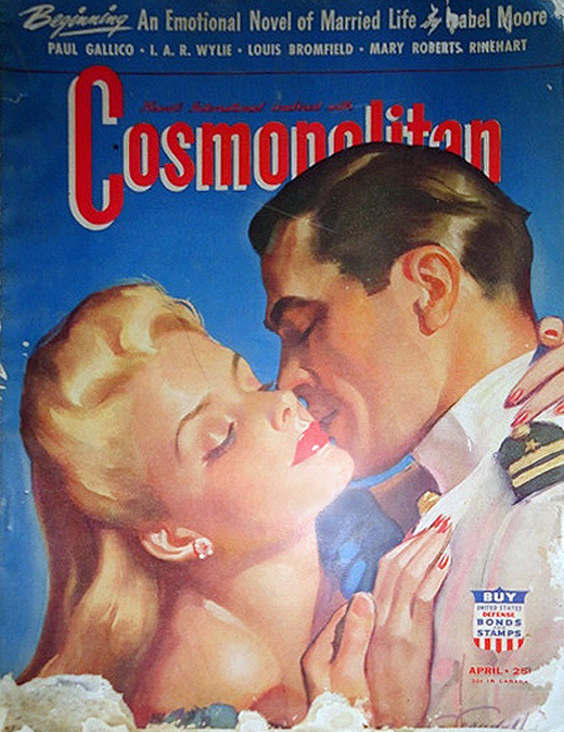 President Gerald Ford was a model who graced the cover of Cosmo.