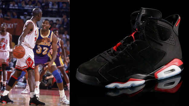 4. Air Jordan VI Infrared (Michael Jordan)