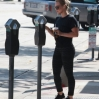 Hilary Duff arriving at a gym in West Hollywood. Hilary making payment at a parking meter.Featuring: Hilary DuffWhere: West Hollywood, California, United StatesWhen: 26 Aug 2015Credit: WENN.com