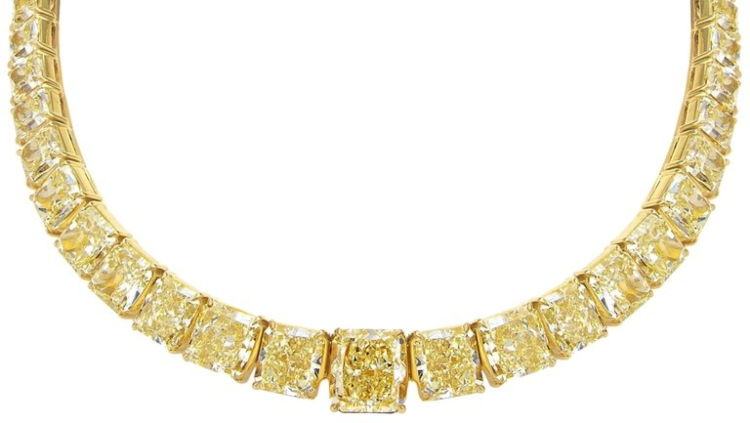 One-of-a-Kind Yellow Diamond Necklace - $3.6 Million