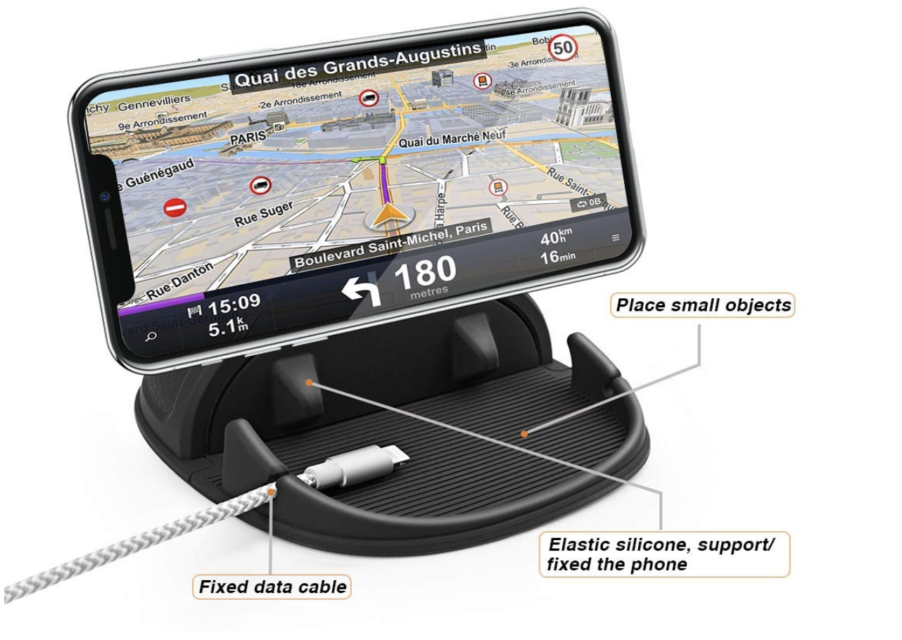 Loncaster Silicone Pad iPhone Car Mount