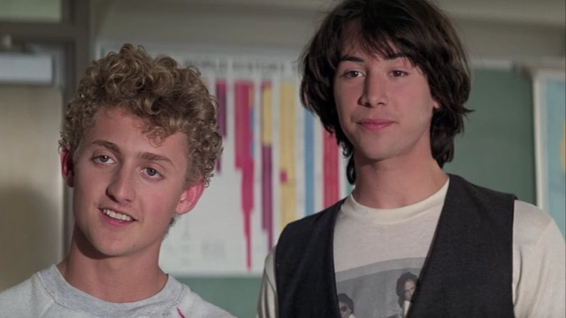 7. Ted in the 'Bill & Ted' Franchise