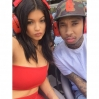 Kylie Jenner and Tyga someplace