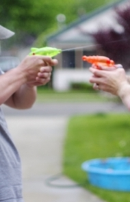 Your most reliable weapon at home is a squirt gun.