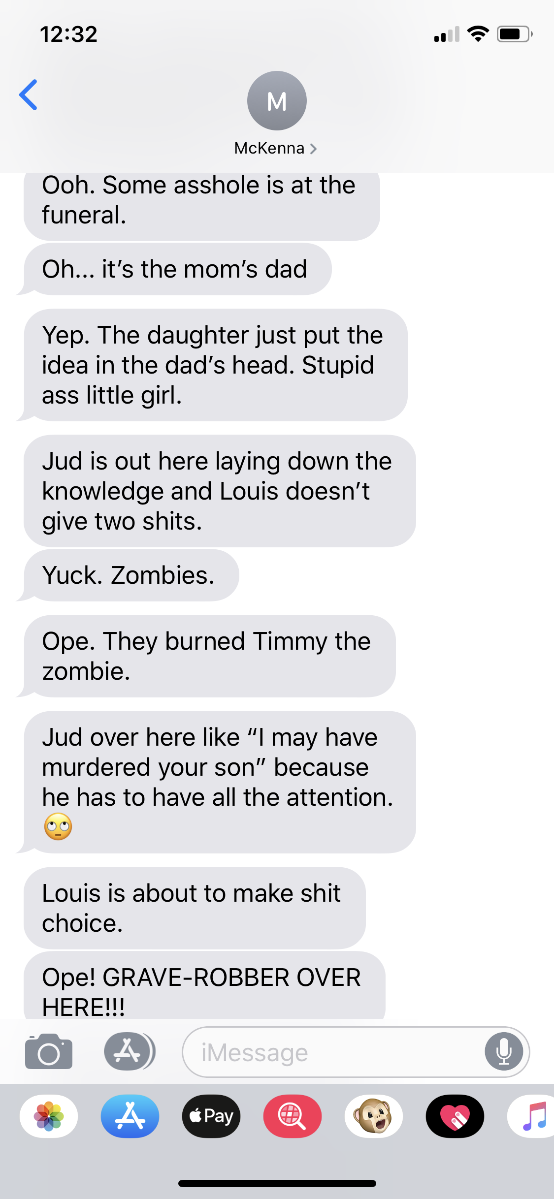 'Timmy the zombie.'