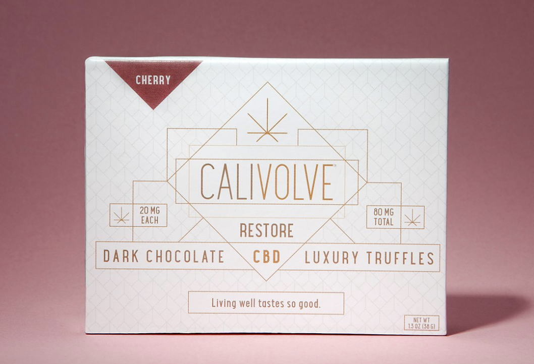 Calivolve Full Spectrum Chocolate Cherry CBD Truffles