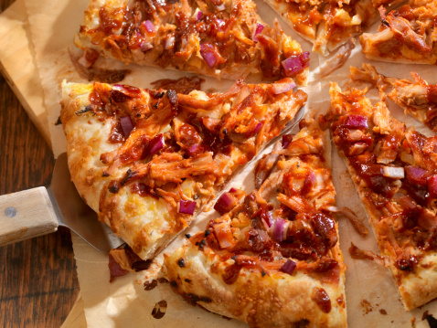 BBQ Chicken Pizza / Pinot Noir