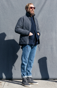 Quilted Ueno Jacket, Slate Blue