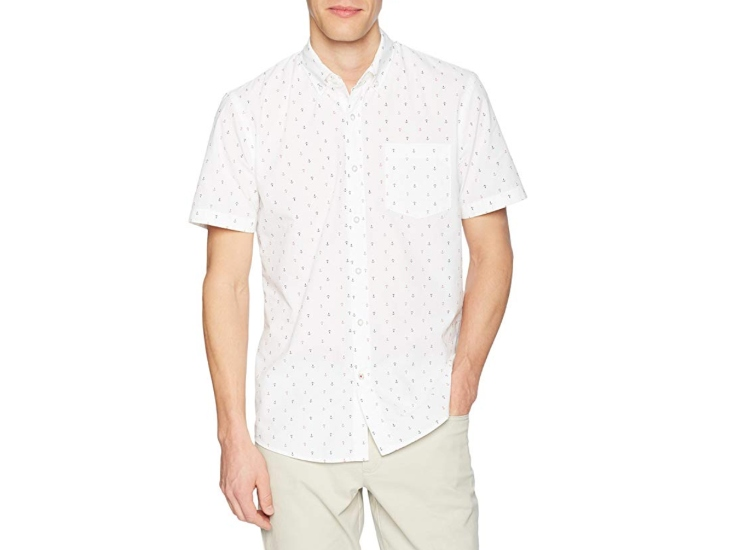 Goodthreads Short-Sleeve Printed Poplin Shirt