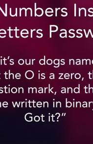 4. The Numbers Instead Of Letters Password