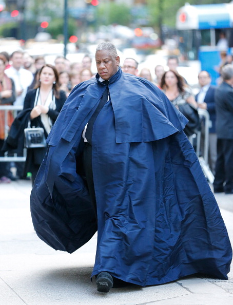 Andre Leon Talley at L'Wren Scott Memorial Service, 2014
