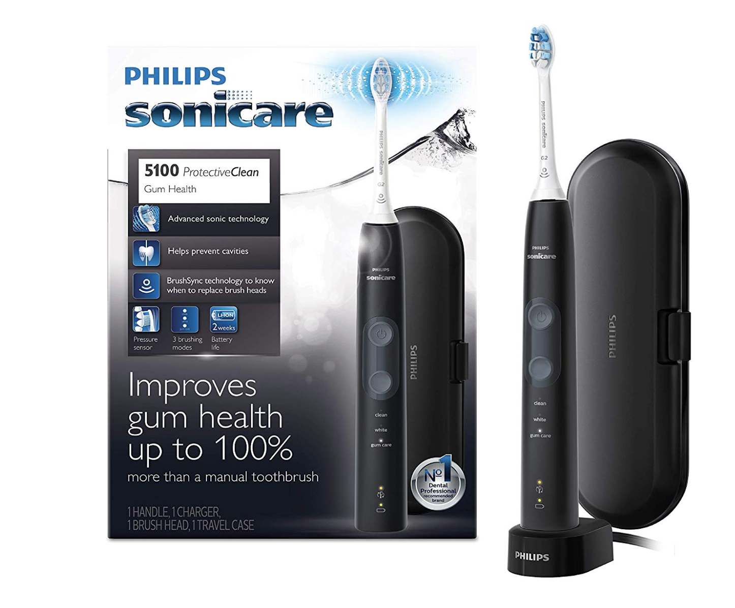 Philips Sonicare ProtectiveClean 5100 Electric Rechargeable Toothbrush