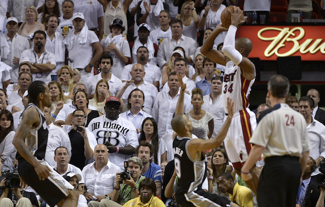 6. Ray Allen's 3-Pointer Saves Championship For Heat