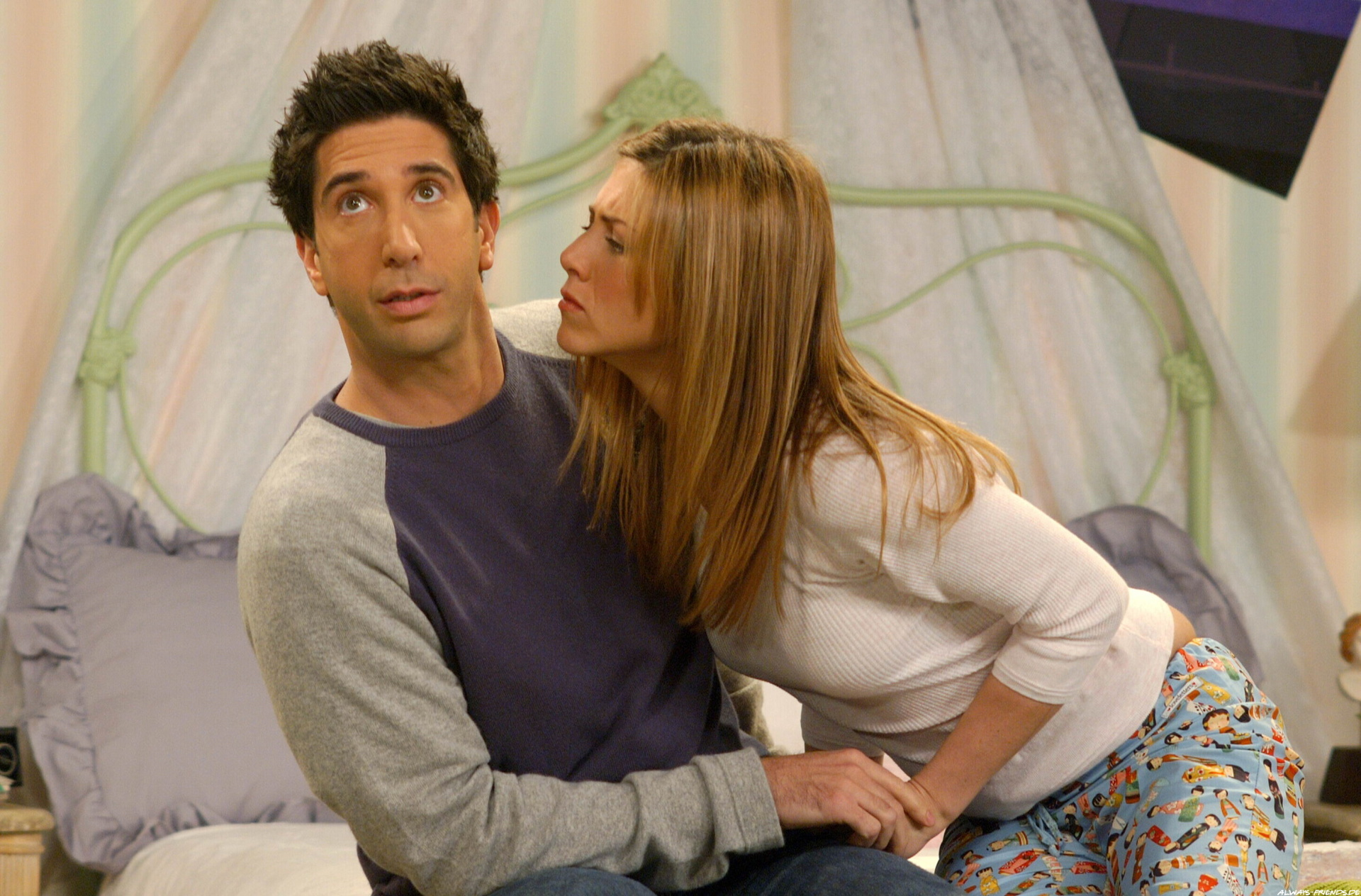13. Rachel and Ross on 'Friends'