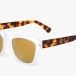 Hallandale Matte Clear / Tortoise W/ Gold Mirrored Lenses