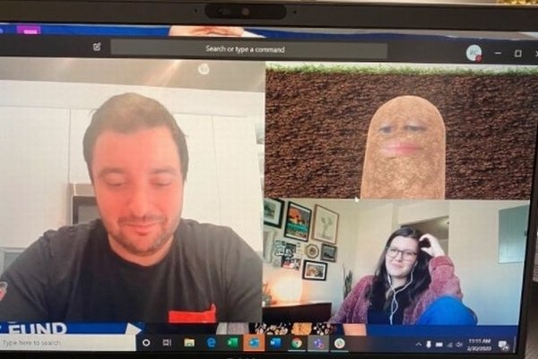 Boss Working From Home Gives New Meaning to the Term 'Couch Potato' During Video Conference