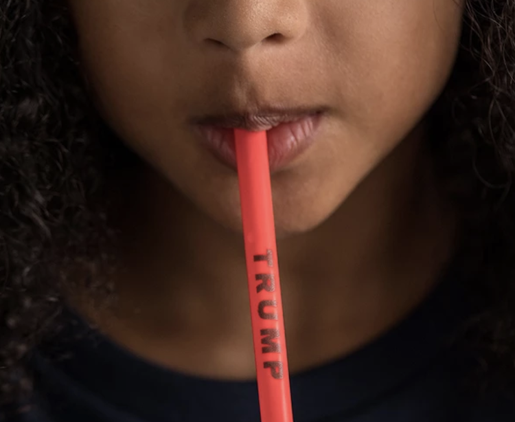 Trump Plastic Straws Give Supporters Two Birds-One Chance to Pledge Allegiance and Destroy Oceans